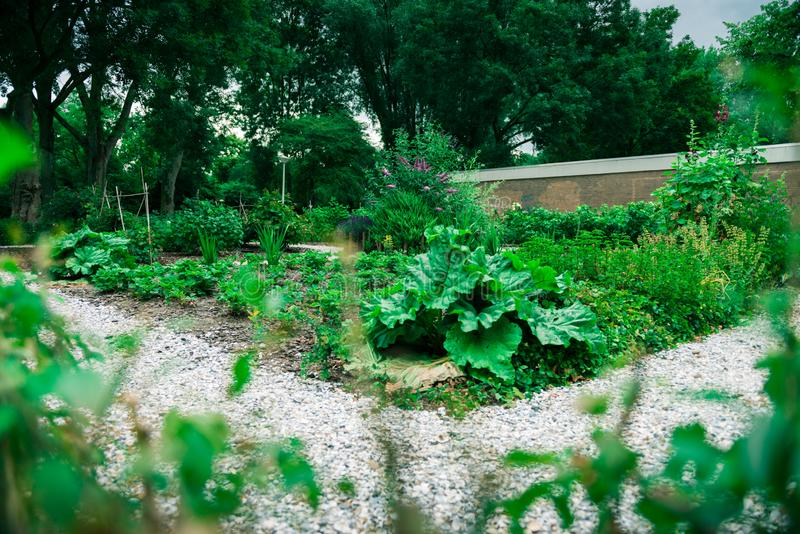Jardin communal de ville photos stock