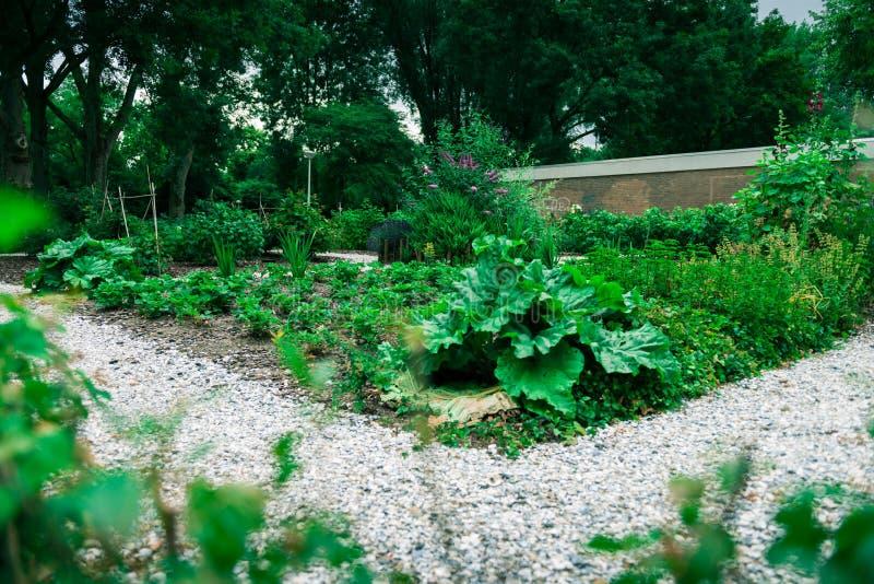 Jardin communal de ville photo stock