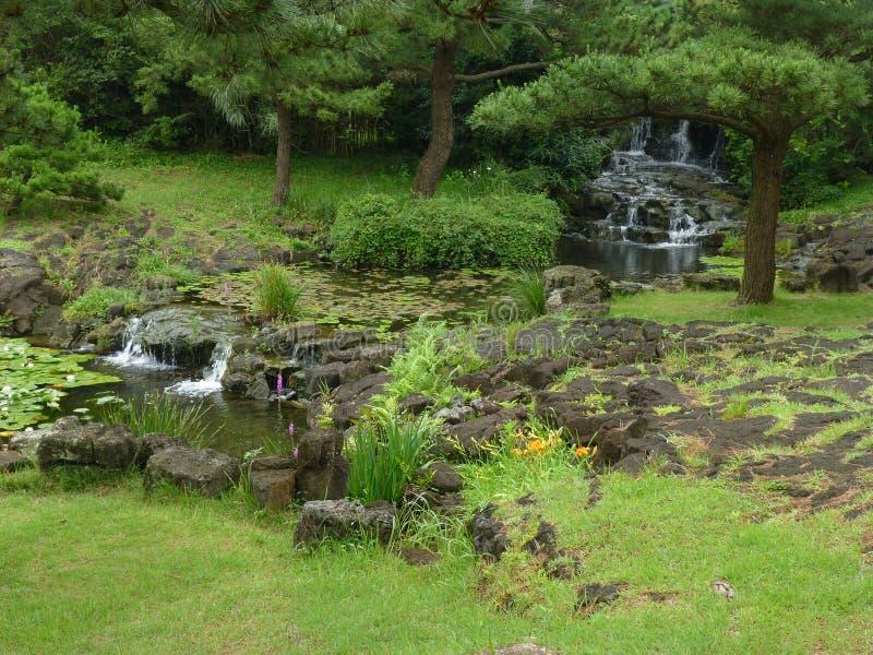 Jardin coréen traditionnel images stock
