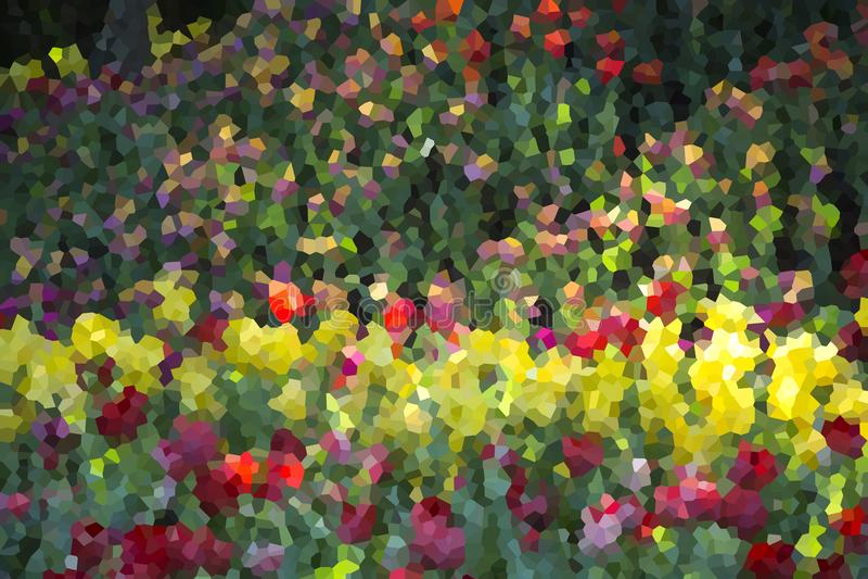Jardin d'agrément abstrait, illustration photographie stock libre de droits
