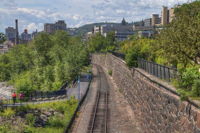 Jardin d'agrément du ` s de Duluth en été images libres de droits