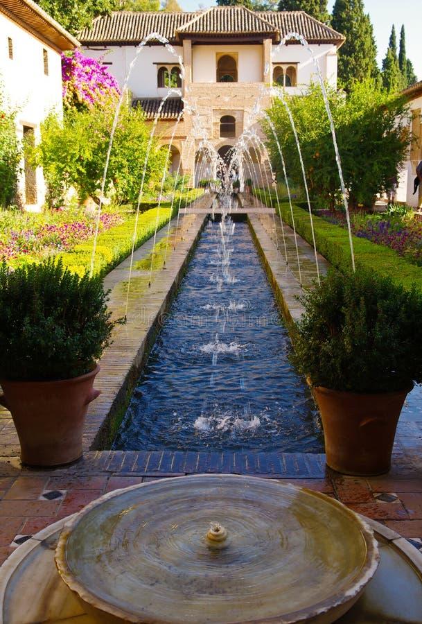 Jardin d'alhambra image stock