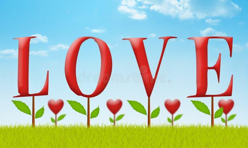 Jardin d'amour illustration libre de droits