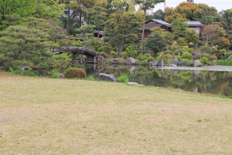 jardin d'en de shosei chez le Japon photo libre de droits