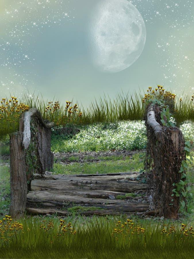 Jardin d'imagination illustration libre de droits