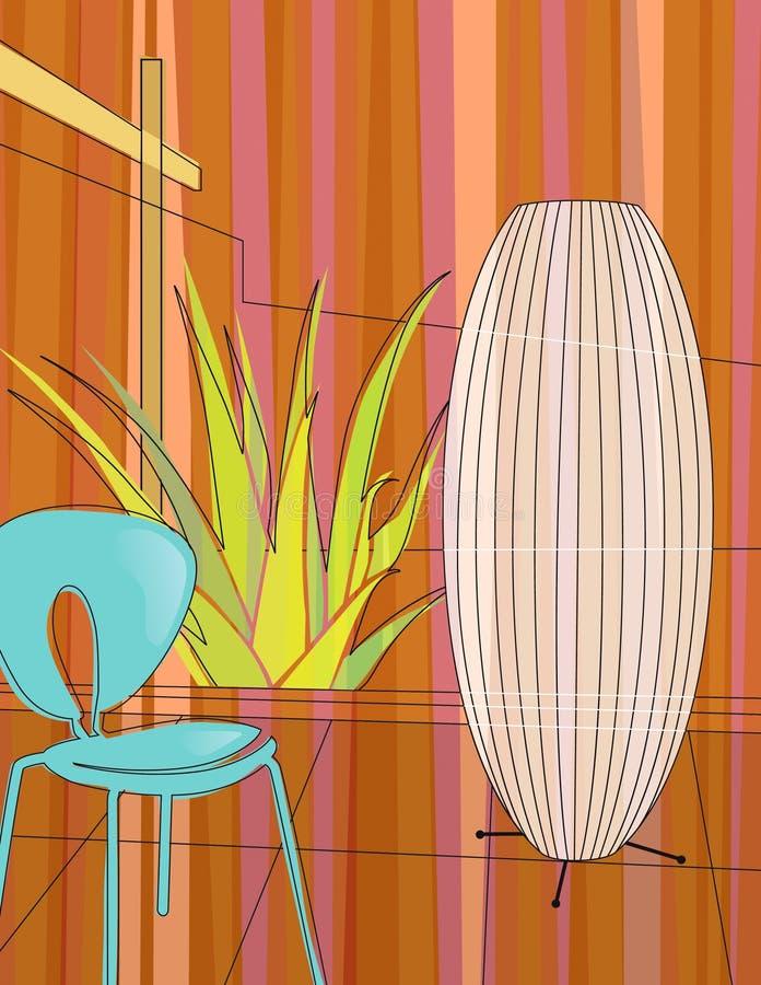 Jardin d'intérieur à la maison moderne illustration de vecteur