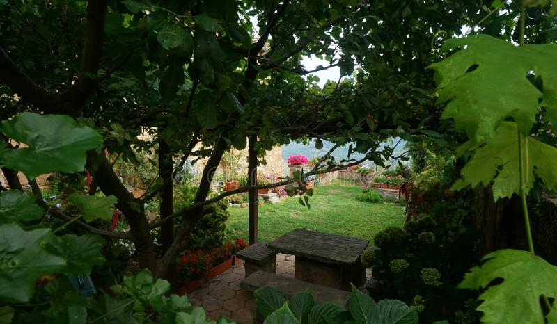 Jardin dans Bagnoregio photo libre de droits
