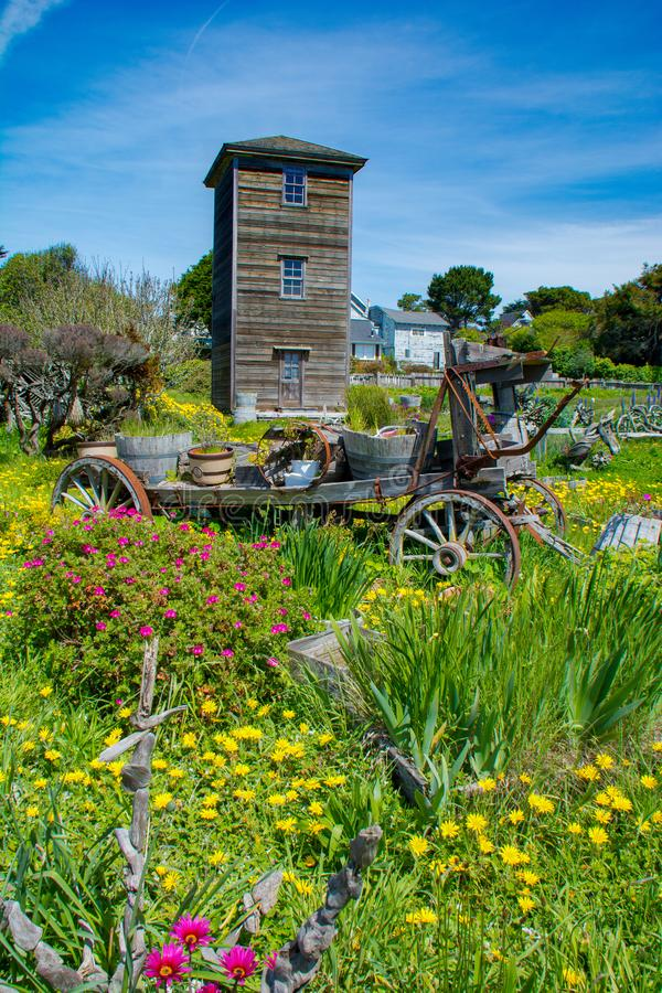 Jardin dans Mendocino la Californie photos libres de droits