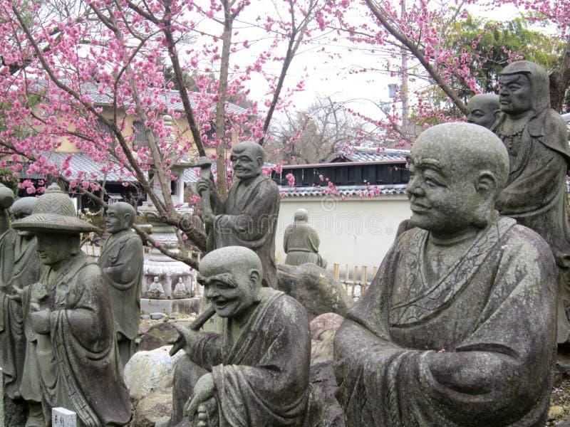 Jardin de Bouddha de Japonais photographie stock libre de droits