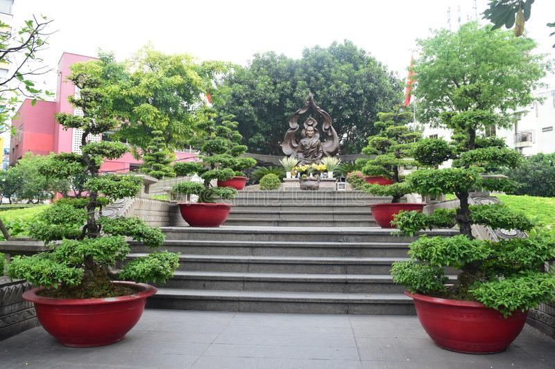 Jardin de Bouddha en Ho Chi Minh City photos libres de droits