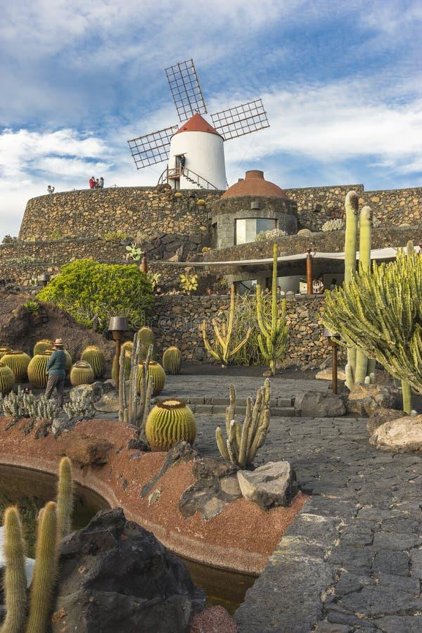 Jardin de cactus ? Lanzarote photo stock