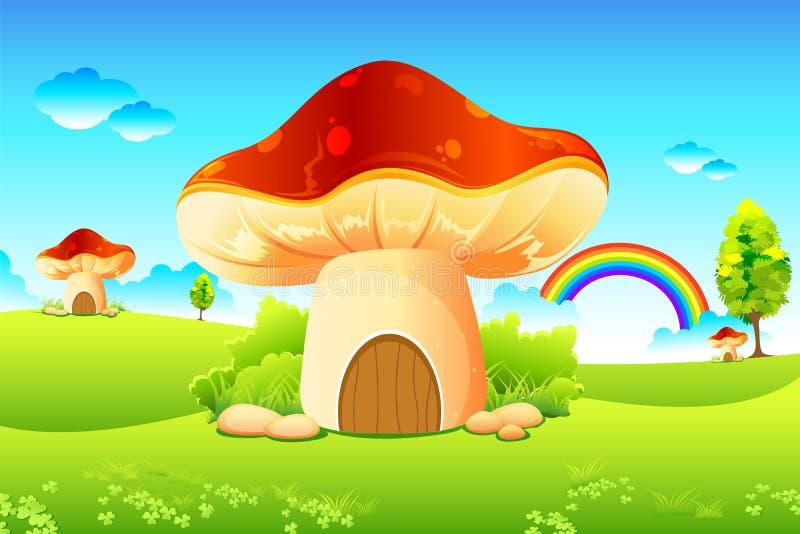 Jardin de champignon de couche illustration libre de droits