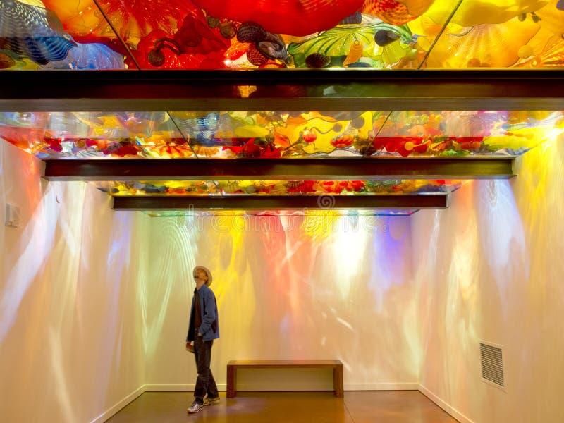 Jardin de Chihuli et musée en verre à Seattle - plafond persan images libres de droits