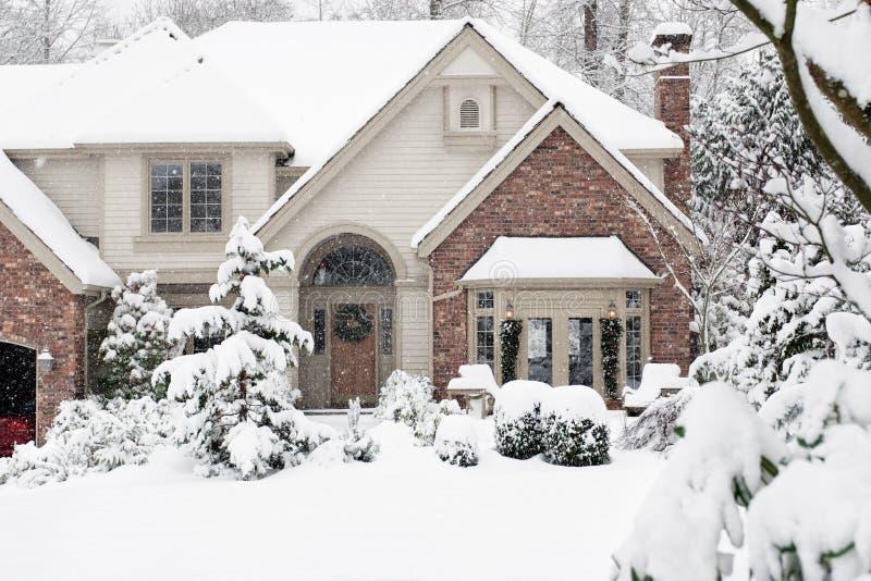 Jardin de chutes de neige photos stock