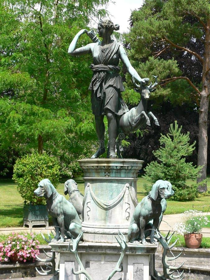 Jardin de Diane, Chateaude Fontainebleau (Frankreich) lizenzfreie stockfotos