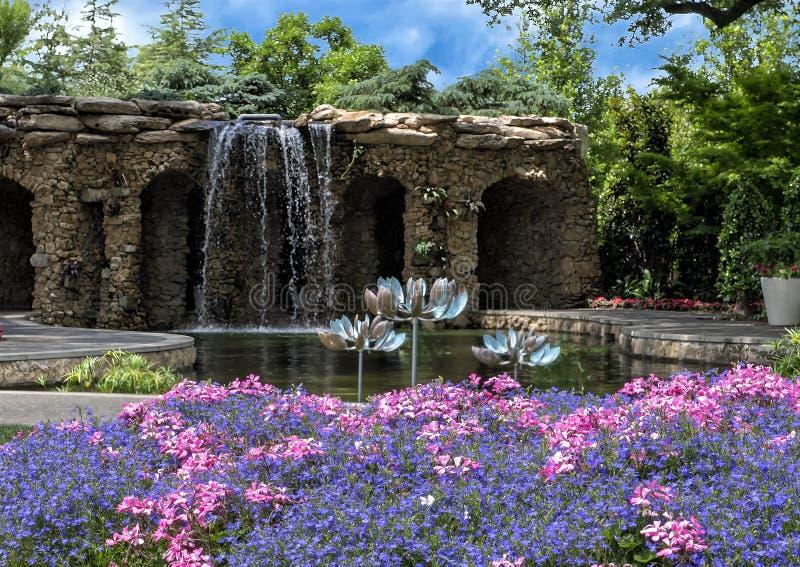Jardin de famille de configuration chez Dallas Arboretum images libres de droits