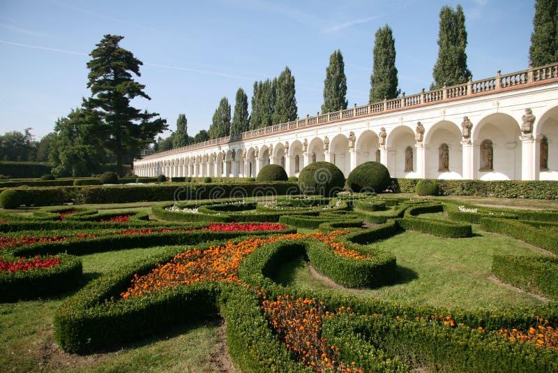 Jardin de fleur, Kromeriz photos stock