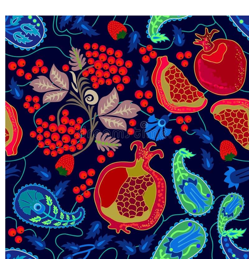 Jardin de fruit d'été illustration de vecteur