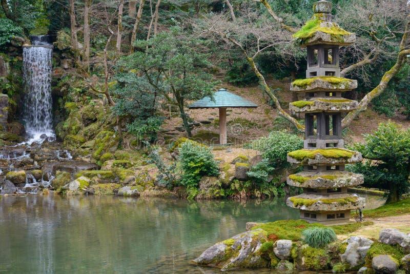 Jardin de kenrokuen kanazawa japon photo stock image for Jardin kenrokuen