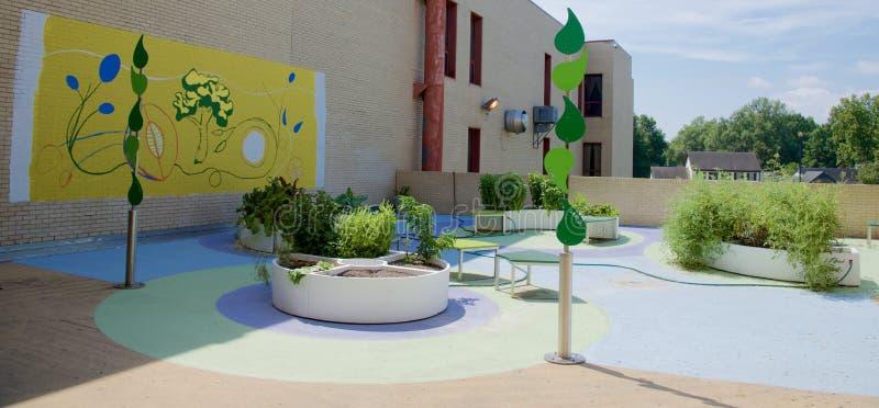 Jardin de la Communauté au lycée de Craigmont images stock