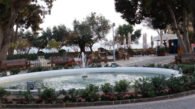 Jardin de La Valette Malte image libre de droits