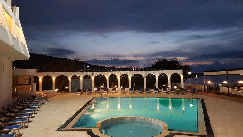 Jardin de lunes del hotel fotos de archivo libres de regalías