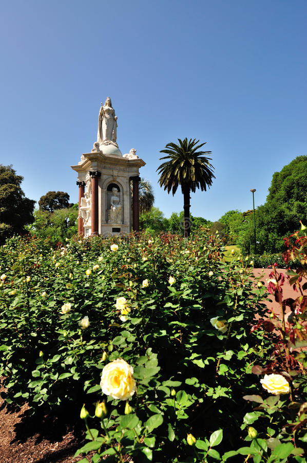 Jardin de mémorial de la Reine Victoria photo libre de droits