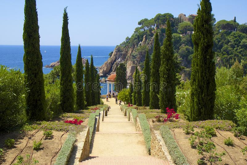 Jardin de Marimutra à Blanes, Espagne image stock