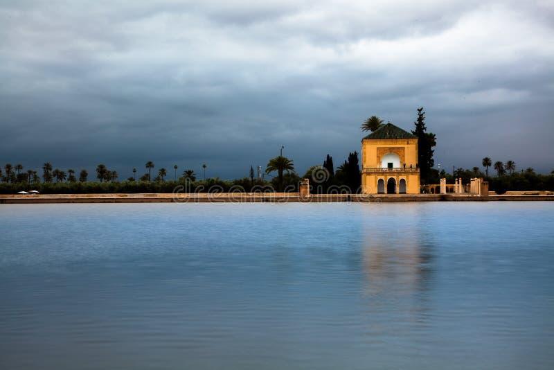 Jardin de Menara, Marrakech, Marocco photos libres de droits
