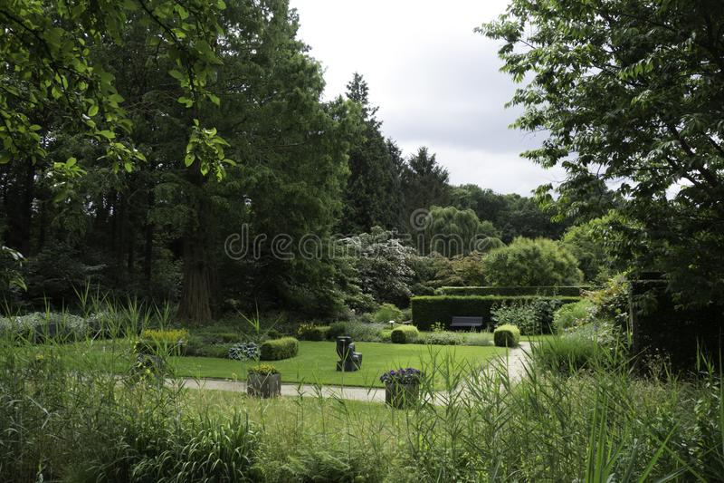 Jardin de Mien Ruys dans Dedemsvaart image libre de droits