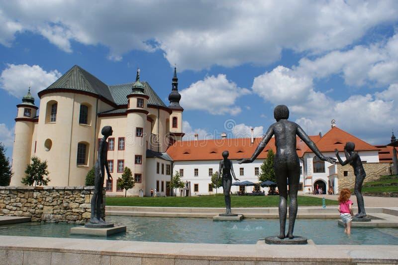 Jardin de monastère de Litomysl photo libre de droits