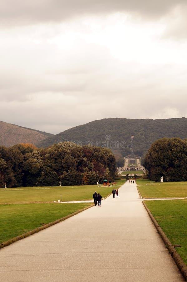 Jardin de Reggia Caserte photo libre de droits
