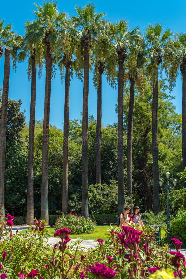 Jardin de ressortissant d'Athènes photo stock