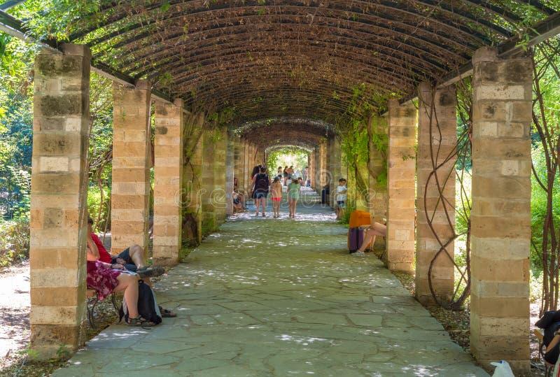 Jardin de ressortissant d'Athènes photographie stock libre de droits