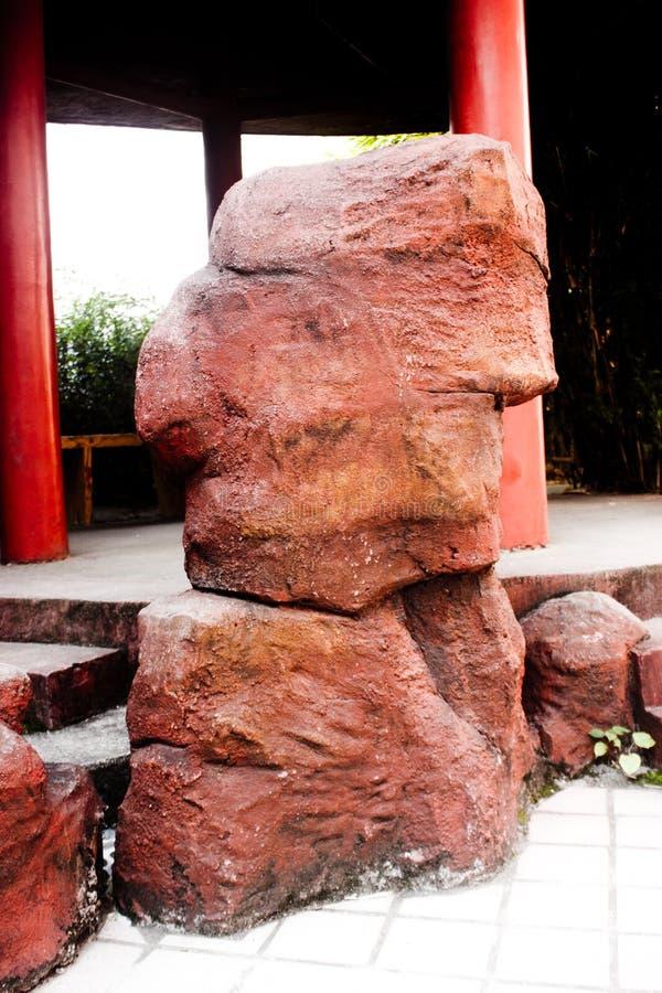 Jardin de rocaille chinois de granit photo stock