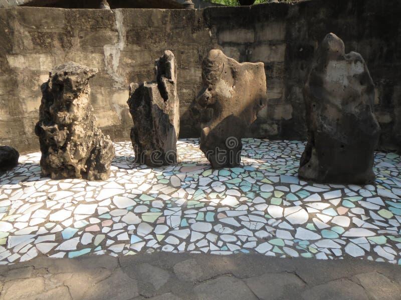 Jardin de roche photo stock