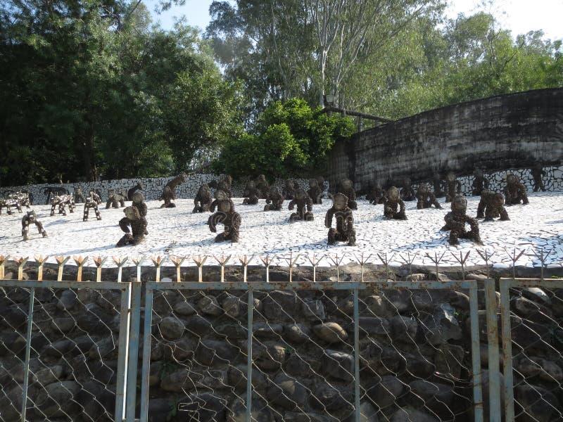 Jardin de roche photos stock