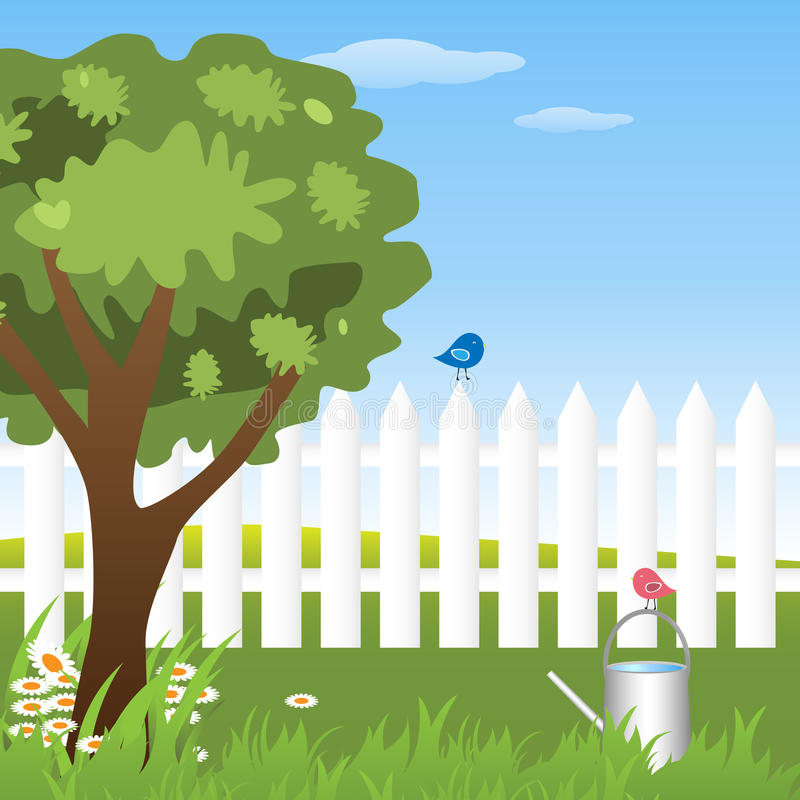 Jardin de source illustration stock