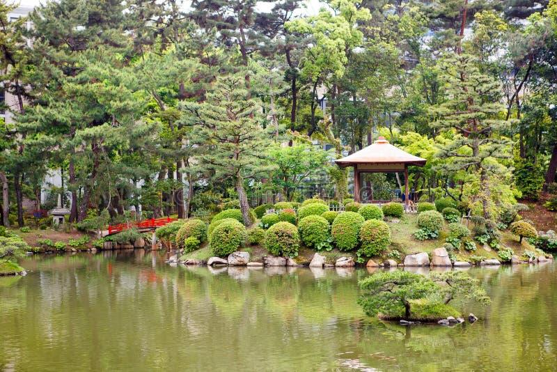 Jardin de style japonais à Hiroshima, Japon image stock