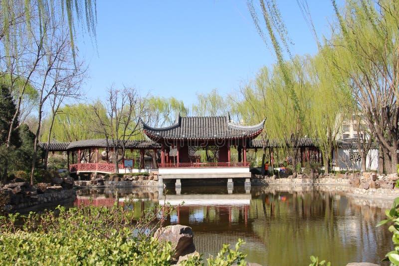 Jardin de Suzhou au printemps images stock