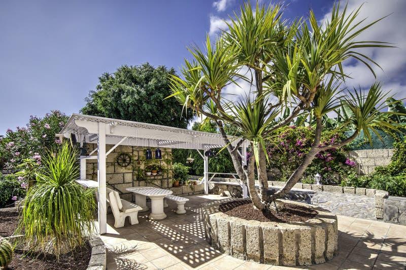 Jardin de terrasse photo stock
