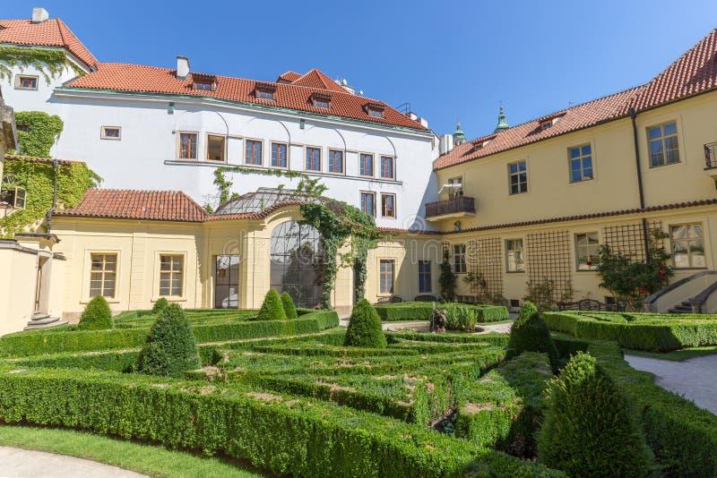 Jardin de Vrtba à Prague photo libre de droits