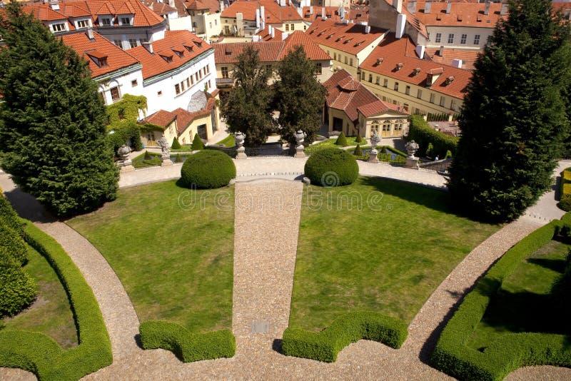 Jardin de vrtba de Prague (zahrada de vrtbovska) image libre de droits