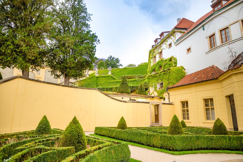 Jardin de Vrtba ou zahrada de Vrtbovska dans la vieille ville de Prague, République Tchèque photos stock