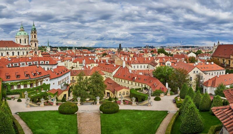 Jardin de Vrtba, Prague, République Tchèque images stock