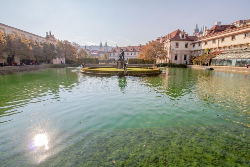 Jardin de Wallenstein en été, à Prague, République Tchèque image libre de droits