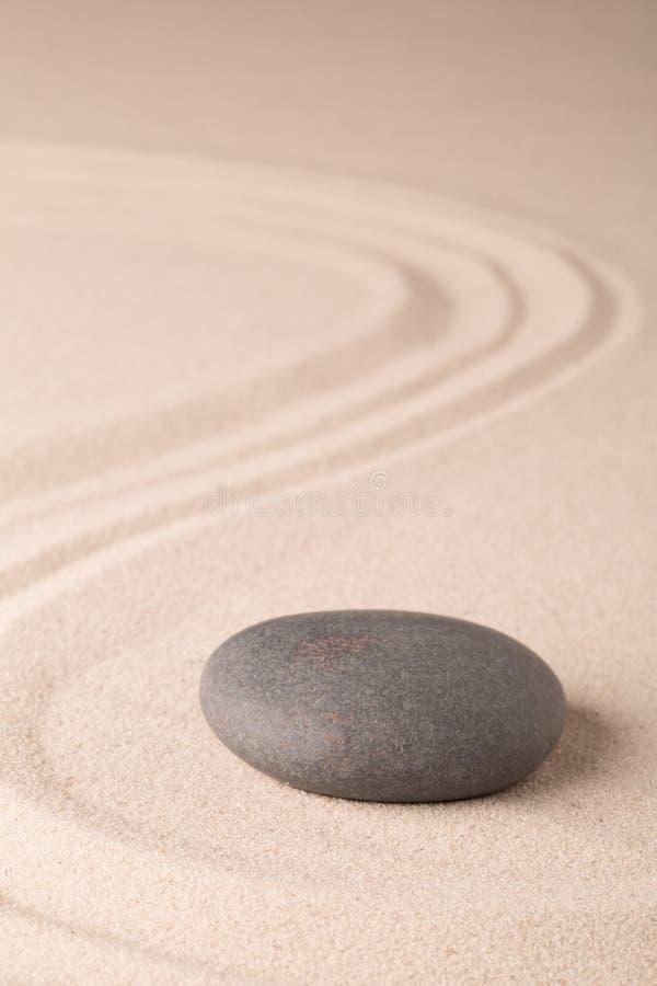 Jardin de zen de méditation d'harmonie et d'équilibre image stock