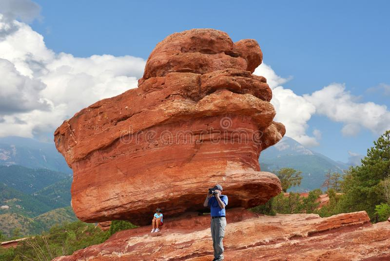 Jardin des dieux à Colorado Springs photographie stock libre de droits