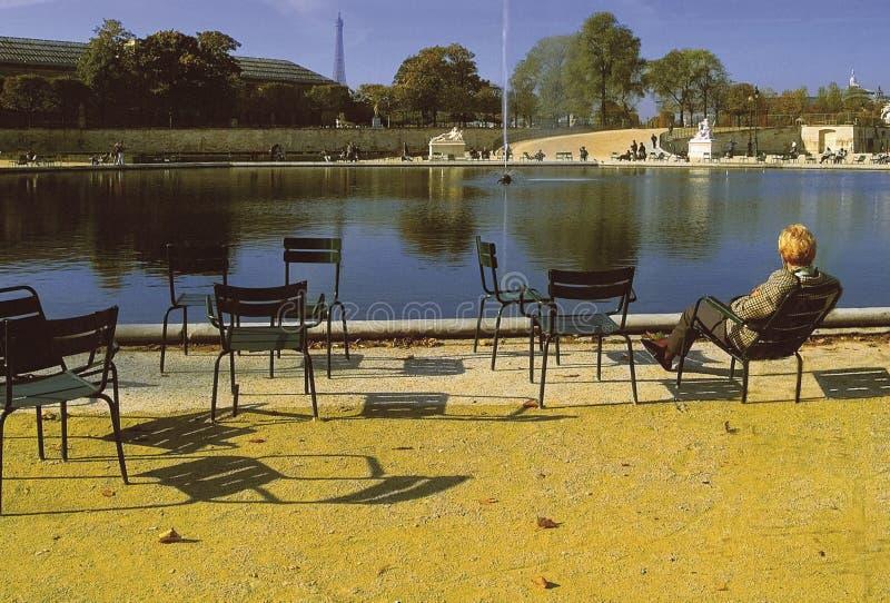 jardin des France Paris tuileries zdjęcia stock