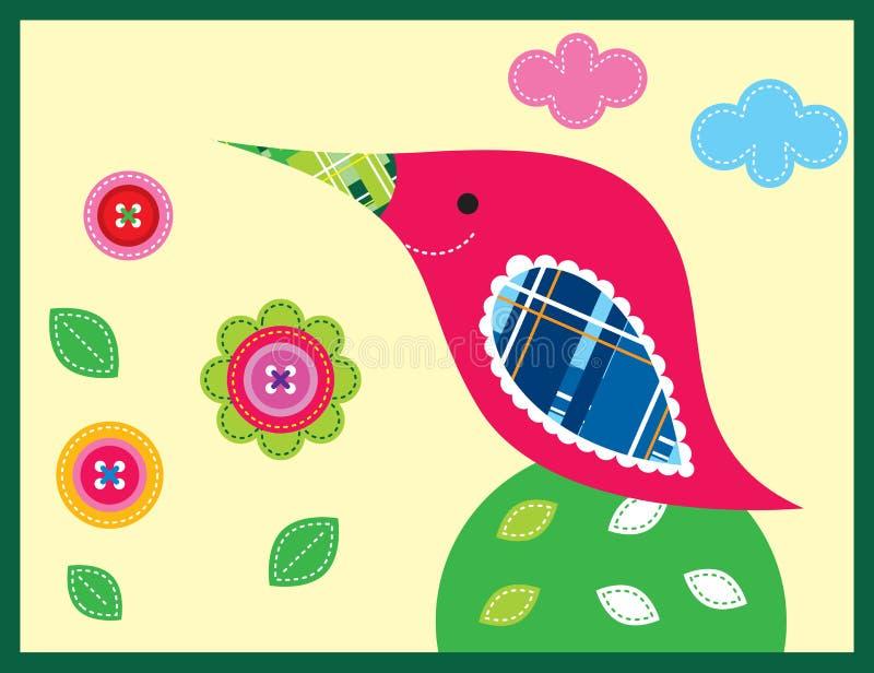 Jardin doux d'oiseau images stock